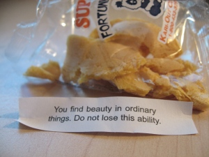 Maybe there is something to this fortune business after all? =)