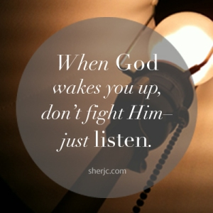 Just another reminder to listen when the Lord speaks!  |  sherjc.com